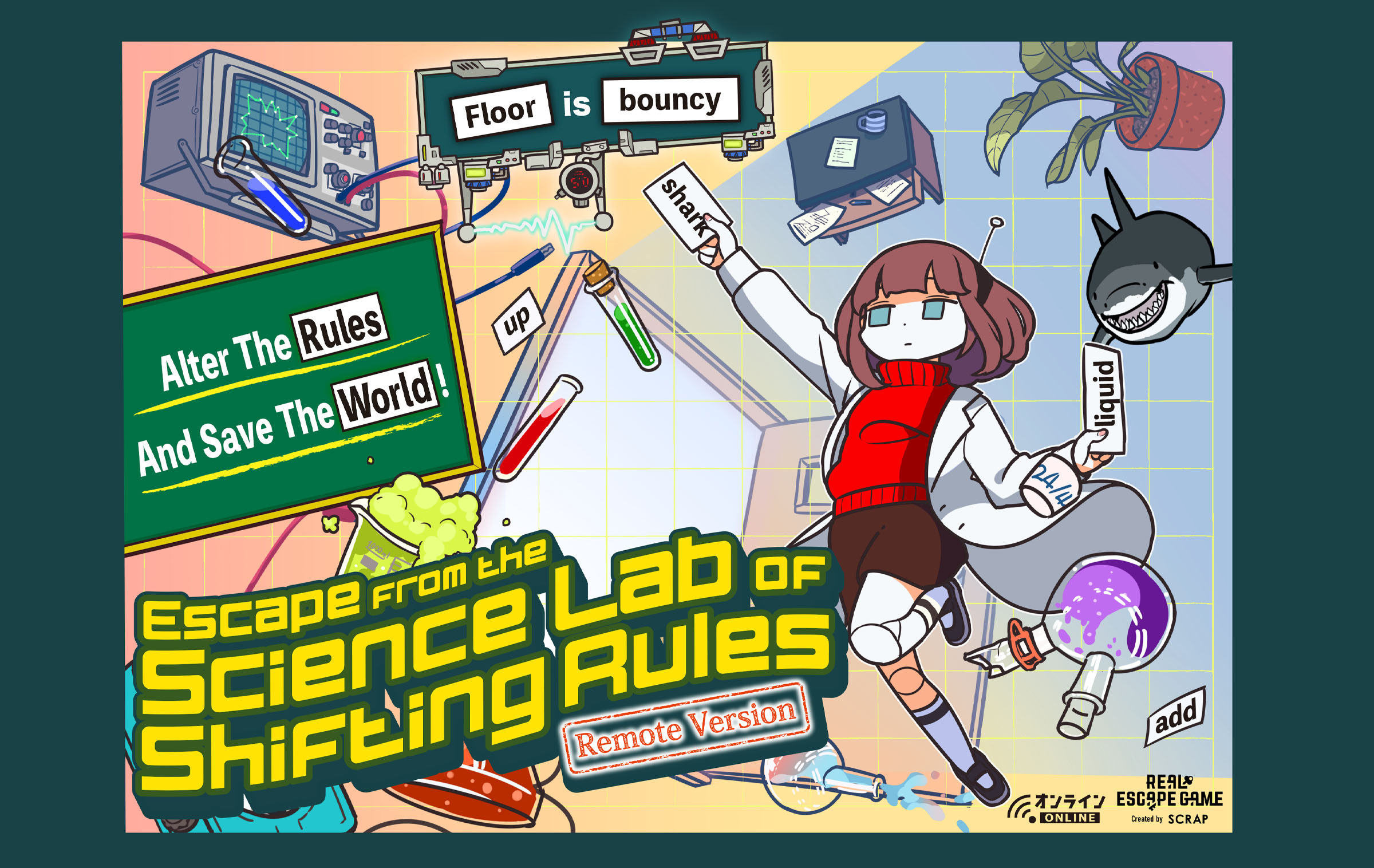 Escape from the Science Lab of shifting rules